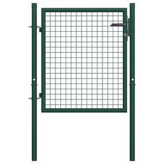 "Link to vidaXL Fence Gate Steel 39.4""x29.5"" Green Similar Items in Yard Care"