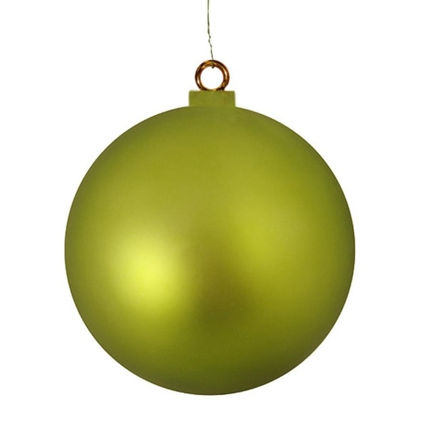 "Huge Matte Kiwi Commercial Shatterproof Christmas Ball Ornament 15.75"" (400mm) - green"
