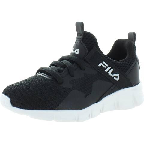 Fila Boys Capello Athletic Shoes Gym Exercise - Black/Metallic Silver/White - 10.5 Medium (D) Little Kid