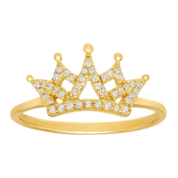 1/8 ct Diamond Crown Ring in 10K Yellow Gold