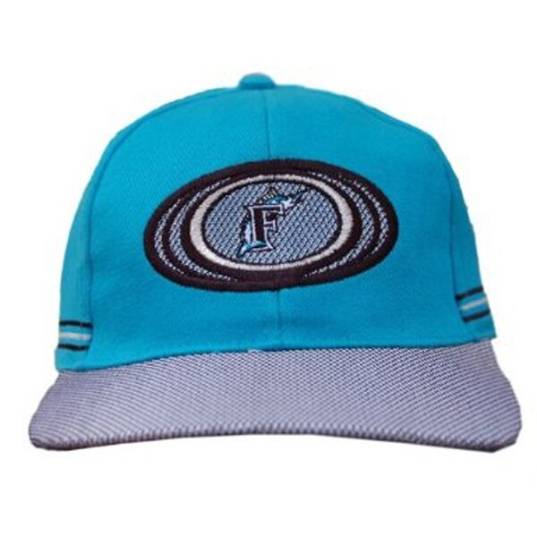 c6c29dcaea386 ... top quality florida marlins mlb adjustable strap hat cap 2 tone blue  ef5b7 859bd