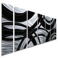 Statements2000 Black / Silver Contemporary Metal Wall Art Painting by Jon Allen - Crossroads - Thumbnail 0