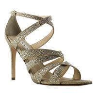 Nina Womens Beige Ankle Strap Sandals Size 9.5