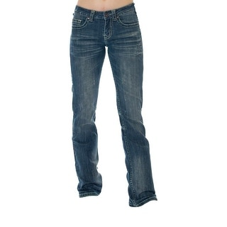 Cowgirl Tuff Western Denim Jeans Womens Brave Wings Medium Wash JBVWGS