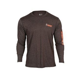 Rocky Outdoor Shirt Mens Long Sleeve Logo Blended Aged Bark LW00110