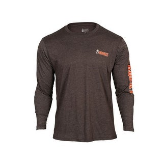 Rocky Outdoor Shirt Mens Long Sleeve Logo Blended Aged Bark