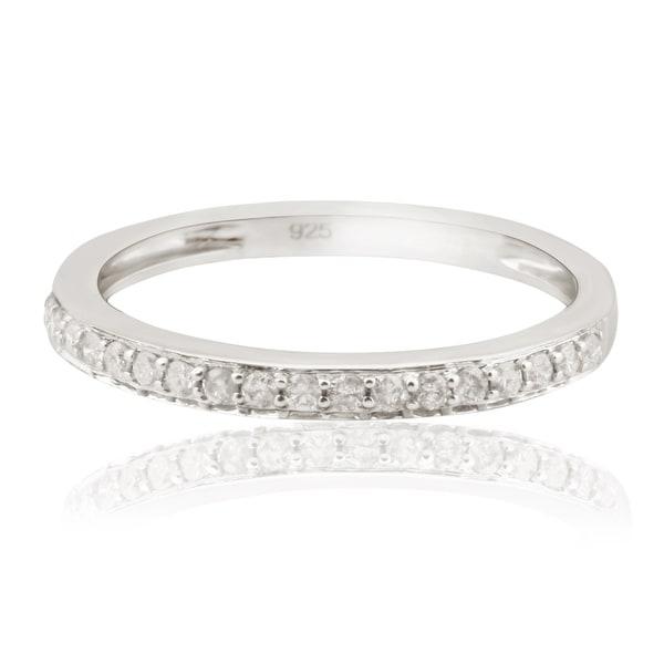 Prism Jewel 0.20Ct Prong Set Natural Diamond Wedding Band- 2.40mm Wide