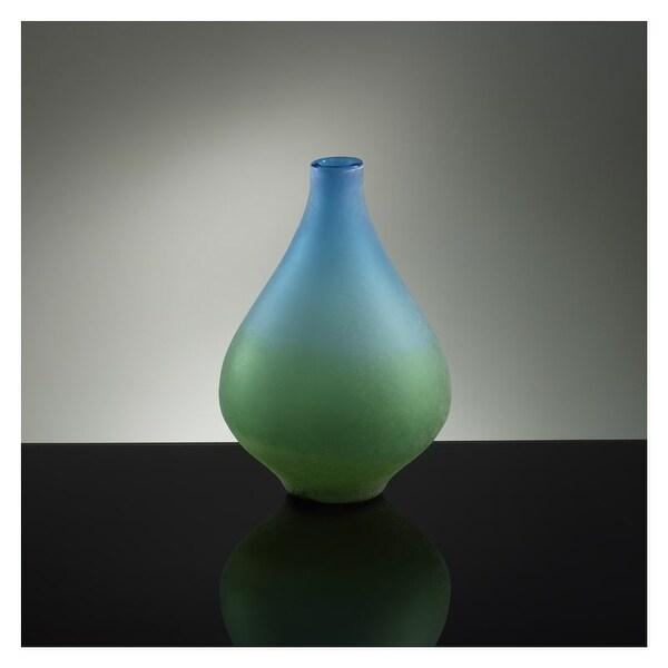 "Cyan Design 1667 13.75"" Medium Vizio Blue And Green Vase"