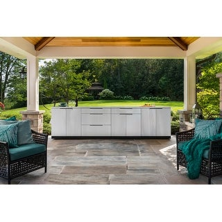 NewAge Products Outdoor Kitchen 184 Inch W x 24 Inch D 5 Piece Set