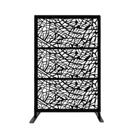 """Free Standing Laser Cut Metal Privacy Stand,48""""x72""""/Combo"""