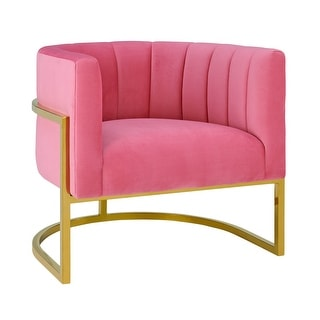 Link to Magnolia Rose Pink Velvet Chair Similar Items in Accent Chairs