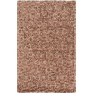 5' x 7.5' Gated Entrance Iron Rust Red and Smoke Gray Area Throw Rug