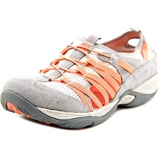 Easy Spirit Ezline Women Round Toe Suede Gray Walking Shoe