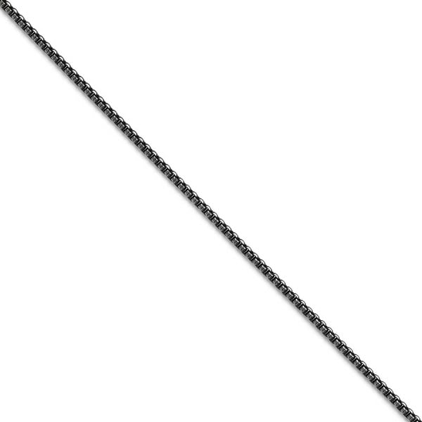 Chisel Stainless Steel 2.25mm Antiqued Chain (2.3 mm) - 20 in
