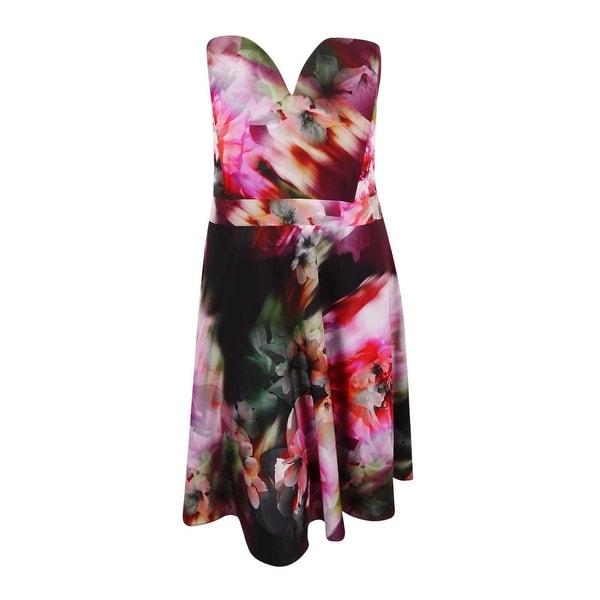 93d3ccd04d178 Shop City Chic Women s Plus Size Strapless Floral-Print Dress (XL ...