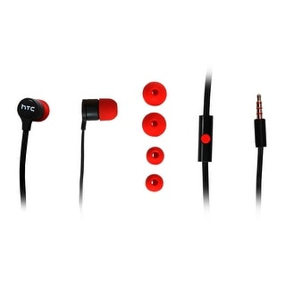 HTC 3.5mm Stereo Headset - Non-Retail Packaging - Black/Red