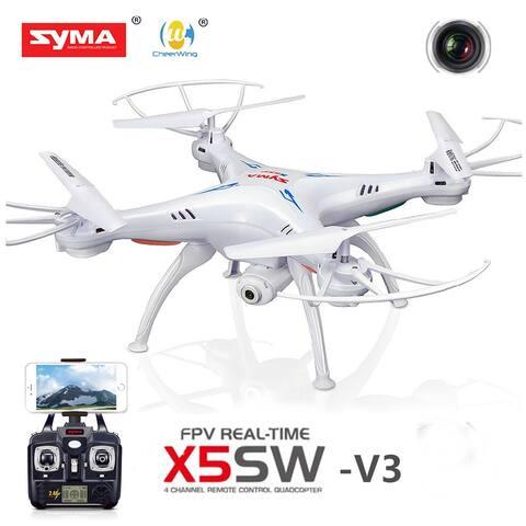 Syma X5SW-V3 Wifi FPV Explorers 2.4G RC Drone HD Camera White