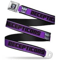 Transformers Decepticon Logo Full Color Black Blue Fade Decepticons Logo Seatbelt Belt