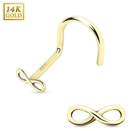 14 Karat Solid Gold Infinity Nose Screw (Sold Individually)