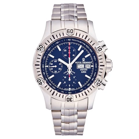 Revue Thommen Men's 16071.6126 'Airspeed' Blue Dial Day-Date Chronograph Automatic Watch