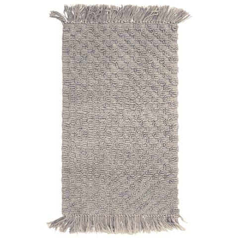 French Connection Arta Stonewash Beaded Cotton Bath Rug