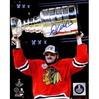 Daniel Carcillo Chicago Blackhawks 2015 Stanley Cup Trophy 8x10 Photo
