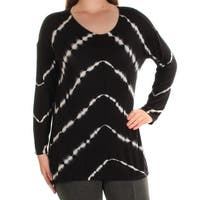 INC Womens Black Striped Dolman Sleeve Scoop Neck Top  Size: M