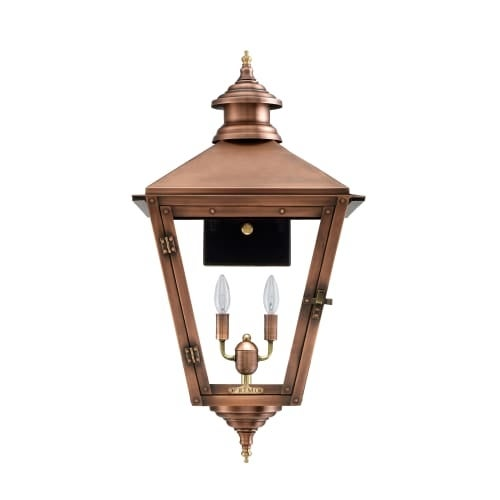 """Primo Lanterns SV-27E Savannah 30"""" Wide 2 Light Outdoor Wall-Mounted Lantern in Electric Configuration"""