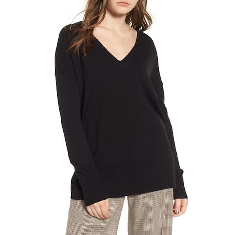 Trouve Women's Sweater, Black, Medium