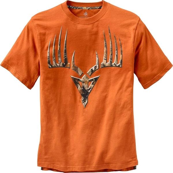 Legendary Whitetails Men's Broadhead Monster Short Sleeve T-Shirt - Burnt Orange