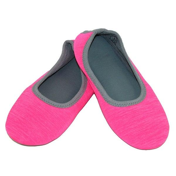 3cf1c8f44d6 Shop Isotoner Women s Heathered Sport Drew Ballerina Slippers - Free ...