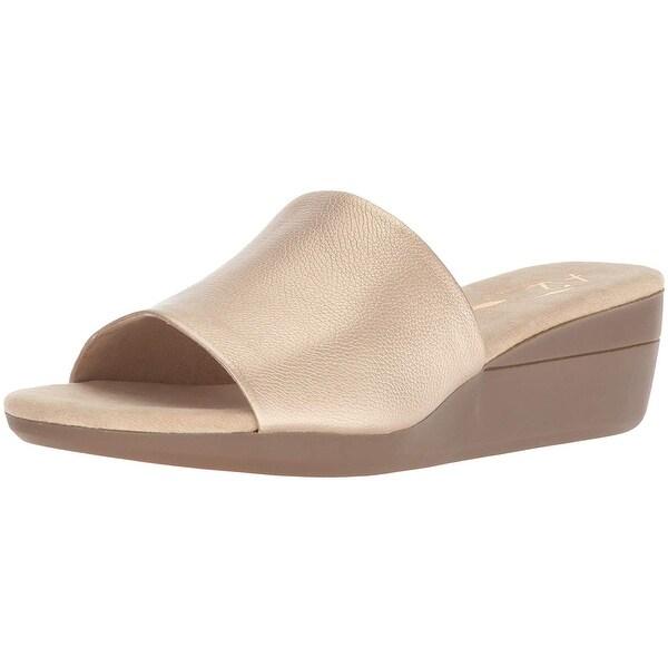 646f1aa90d98 Shop Aerosoles Womens Sunflower Peep Toe Casual Slide Sandals - Free ...
