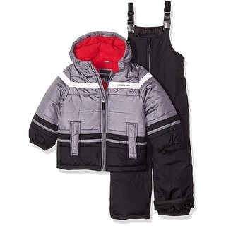 London Fog Boys 4-7 Colorblock Snowsuit - Grey