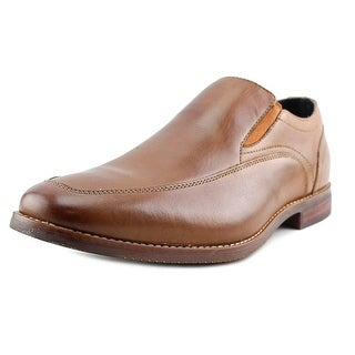 Rockport Style Purpose Moc Slip on Men W Round Toe Leather Tan Loafer