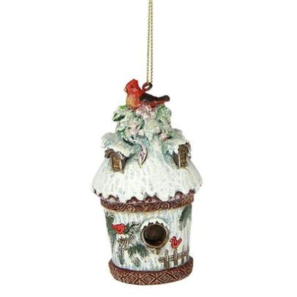 Joseph's Studio Nature's Story Teller Cardinal Birdhouse Christmas Ornament - WHITE