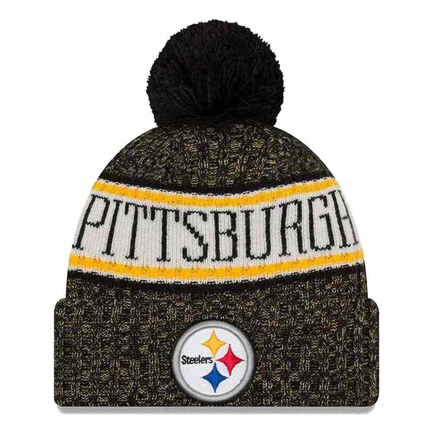 f8571e6e74e Shop New Era 2018 NFL Pittsburgh Steelers Sport Stocking Knit Hat Winter  Beanie Pom - Free Shipping On Orders Over  45 - Overstock - 23042828