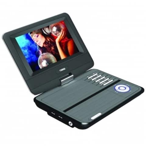 NAXA NPD-703 7 in. TFT LCD Swivel Screen Portable DVD Player with USB-SD-MMC Inputs