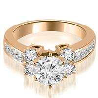 1.25 cttw. 14K Rose Gold Channel Round Cut Diamond Engagement Ring