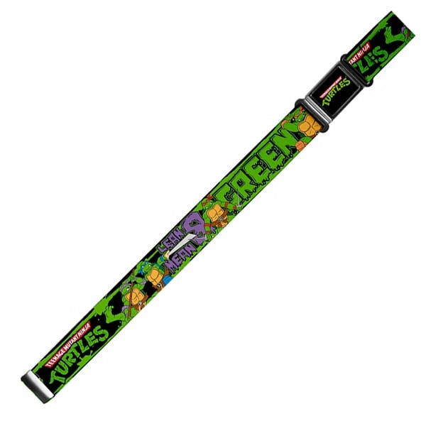 Classic Tmnt Logo Full Color Classic Tmnt Logo Group Pose5 Lean Mean & Magnetic Web Belt - S