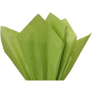 """Pack Of 480, Solid Oasis Green Tissue Paper 15 X 20"""" Sheet Half Ream Made From 100% Post Industrial Recycled Fibers Made In Usa"""