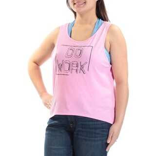 JESSICA SIMPSON Womens New 1395 Pink Do Work Tie Low Back Sleeveless Top XL B+B