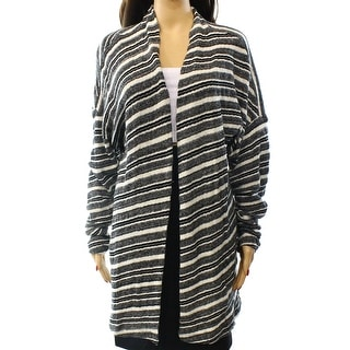 Three Dots NEW Black White Women's Size Large L Cardigan Striped Sweater