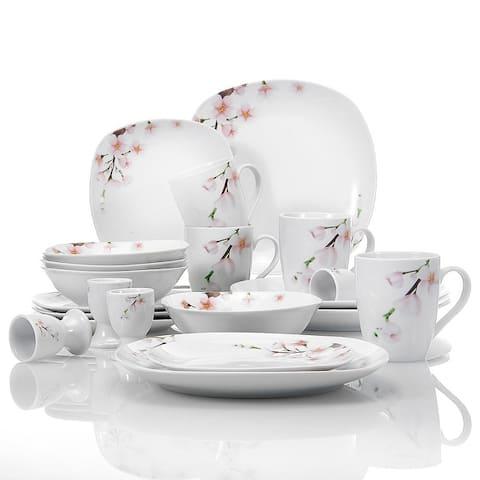 VEWEET 'Annie' Floral Dinnerware Set (Service for 4)
