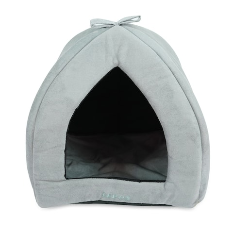 Pets Washable Pet Tent Bed - Cozy Covered Small Cat Bed and Dog Igloo Bed