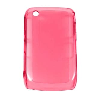 Verizon High Gloss Silicone Case for BlackBerry 8530, 8520 - Hot Pink