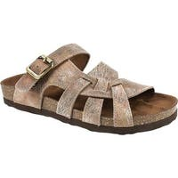 White Mountain Women's Hickory Slide Sandal Taupe Swirl Suede