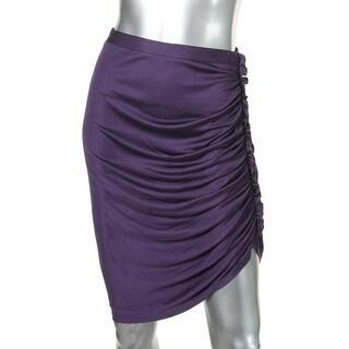 Catherine Malandrino Womens Silk Blend Ruffled Straight Skirt - S