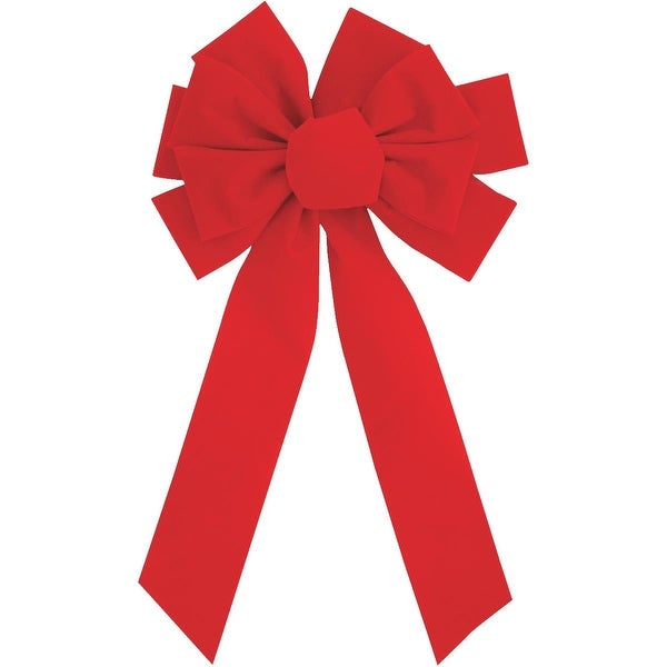 Holiday Trims 10X22 10-Loop Red Bow