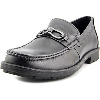 Giorgio Brutini Flosko Men Moc Toe Leather Black Loafer