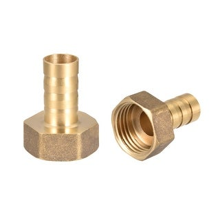"""Brass Barb Hose Fitting Connector Adapter 12mm Barbed x 1/2"""" G Female Pipe 2pcs - 1/2"""" G x 12mm"""